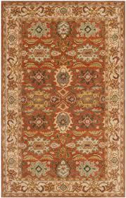 safavieh heritage hg734d rust beige area rug