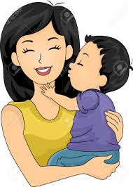 mommy kisses clipart 1