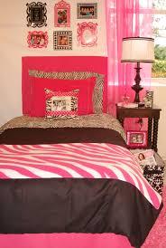 hot pink txl zebra dorm room bedding set and dorm decor