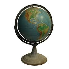 world globe on stand. Early 20th Century World Globe On Metal Stand, Circa 1940-1950s Stand E