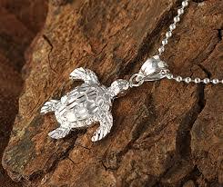 white gold turtle pendant s makani hawaii hawaiian heirloom