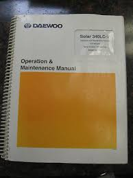 daewoo doosan excavator solar s420 lc v shop service repair manual daewoo solar s340lc v excavator operation maintenance manual