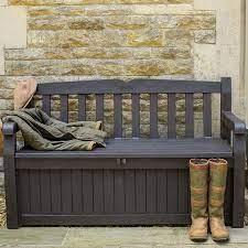 keter iceni plastic storage bench
