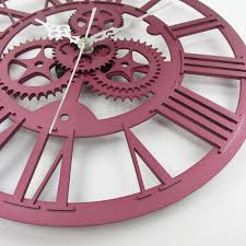 the use of gear instantly adds the retro look on a wall clock while you can make it yourself the possibility for a little twist on its finish is endless