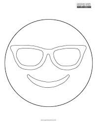 See more ideas about emoji coloring pages, coloring pages, emoji. Sunglasses Emoji Coloring Sheet Super Fun Coloring
