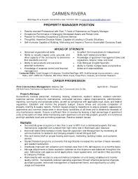 Property Manager Resume Commercial Property Manager Duties Sample
