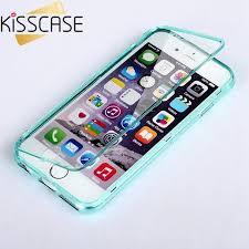 iphone 6 plus case. kisscase ultra thin transparent flip case for iphone 6 6s plus iphone n