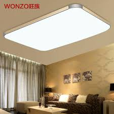 lighting a large room. Wang Clan Slim Led Ceiling Lamp Modern Minimalist Rectangular Large Living Room Balcony Bedroom Lighting Fixtures A M