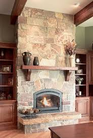 full castle rock thin veneer earth tones add warmth to family room