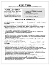 ... Stylist And Luxury Crna Resume 4 Sample Resume For Nurse Anesthetist ...