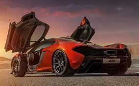 mclaren p1 black. herunterladen hintergrundbild mclaren p1 british hypercar rckansicht sport autos orange black