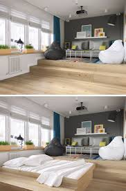 apt furniture small space living. Small Apartment Ideas -- Hide Your Bed Under A Raised Living Area. Apt Furniture Space
