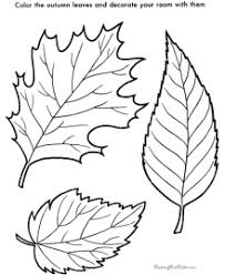 Small Picture Tree Leaf Coloring Pages