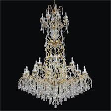 foyer crystal chandelier old world iron 543af30l 3c
