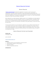 Sample Dancer Cover Letter 8 Dance Resume Examples 12 And For Kids