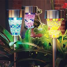 10 Solar Powered Stainless Steel Garden Post LightsSolar Garden Post Lights