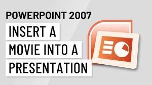 Movie Powerpoint Template Powerpoint 2007 Inserting A Movie Into A Presentation