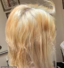 Bleach Hair Time Chart Teen Who Tried To Bleach Her Long Brown Hair Blonde Is