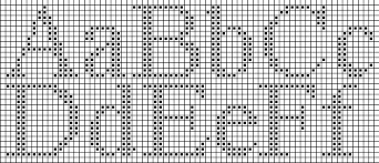 Knitted Letter Charts Roman Letters Chart Cross Stitch
