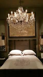 restoration hardware chandelier bedroom