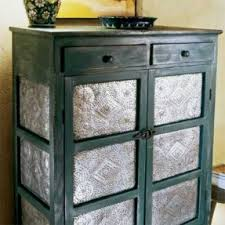tin furniture. diy for punching tin can also use cheap aluminum baking furniture foter
