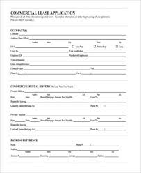 Commercial Lease Agreement Sample Gorgeous Commercial Lease Application Template Zerogravityinflatablesus
