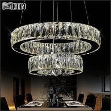1 ring 2 ring 3rings led k9 crystal chandelier light lamp res for popular residence led crystal lighting plan
