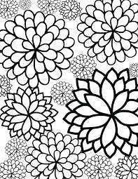 flower color pages free pretty coloring pages free printable bursting blossoms flower coloring page coloring pages