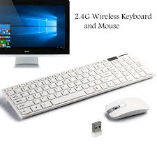 <b>2.4G Ultra-Thin Wireless Keyboard</b> With Mouse and USB Receiver ...