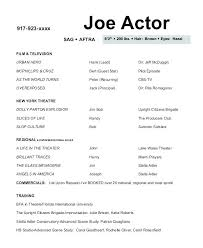 actor resume no experience sample acting resume no experience actors resume examples actor