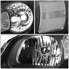 Fit 05-10 Chevy Cobalt/G5 Black Housing Headlight+Clear Lens Side ...