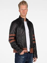 wolverine black leather jacket