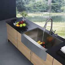Kitchen Awesome Kitchen Sink Decor Using Stainless Steel Apron Sink