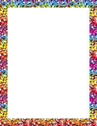 Rainbow Page Border Glitter Page Borders