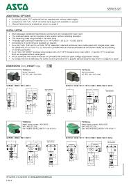 asco atex solenoid valves 327 series spec sheet enclosures are supplied out cable gland 4