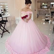 pink wedding gowns. Pink Wedding DressSimple Wedding DressOff The Shoulder Bridal