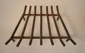 vintage mid century fireplace grate 3