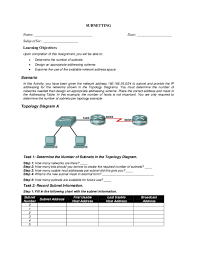 Pdf 24057 Subnetting Assignment 1 Chayle Fallesgon