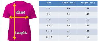 Asian T Shirt Measurement Chart Saiz Ukuran Tee Shirts Opal Tee