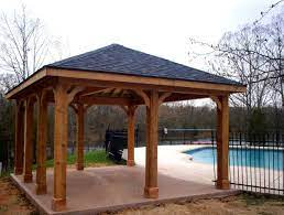 build free standing wood patio cover
