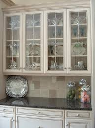 Image of: Ideas Glass Front Cabinet Doors