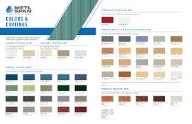 Mueller Metal Buildings Color Chart Colors Metl Span Insulated Wall Panels Roof Panels