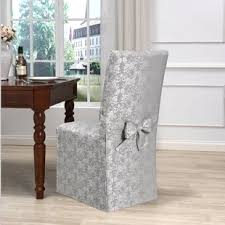 White dining room chair covers Fit Twill The Beautiful Uniform Of Dining Room Chair Slipcovers Lizandettcom The Beautiful Uniform Of Dining Room Chair Slipcovers Lizandett