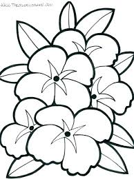 big coloring pages of flowers flower large to print