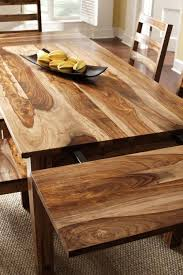 rustic wood dining table and add farmhouse chairs pertaining to design 6