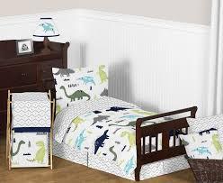 dinosaur bedroom. rawr blue green dinosaur toddler bedding - 5pc bed in a bag comforter set bedroom p