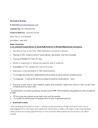 Sample Resume For Microbiologist
