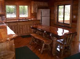 Rustic Wooden Kitchen Table Furniture Best Rustic Varnished Kitchen Tables Centerpieces