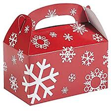Amazoncom 12 Cardboard Santa Gift BoxesChristmas Treat Boxes Where Can I Buy Gift Boxes For Christmas