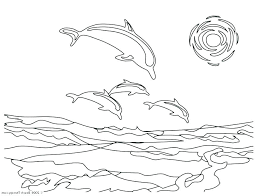 Picture Of A Dolphin To Color Coloring Dolphin Coloring Pages To